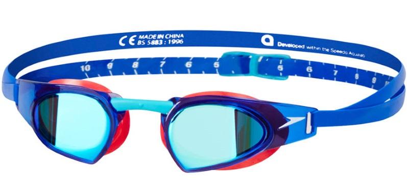 Speedo Speedo Fastskin Prime Mirror Goggle (Red Blue) 8eb1f92179a72