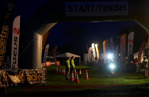 Image of a night time cycling event